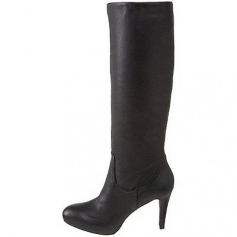 Enzo Angiolini Womens Gibbons Black Leather Dress Boot