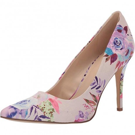 Act Pink Multi Fabric Nine West Pumps