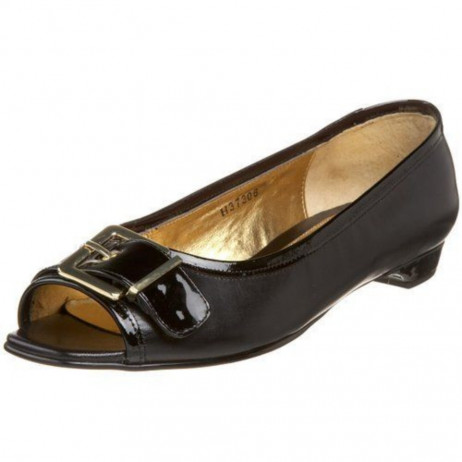 Ros Hommerson Women's Hera Black Leather Flat