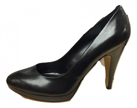 Nine West Women's Lilies Black Leather Pump