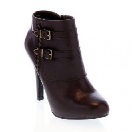 Me Too Women's Lennon Brown Leather Ankle Boot
