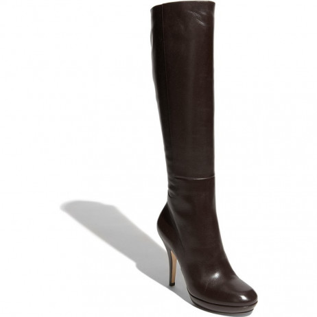 Via Spiga Storm Chocolate Brown Leather Boot