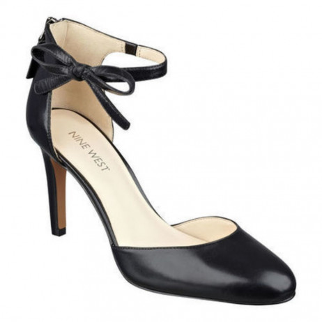 Nine West Women's Howley Black Leather Dress Pump