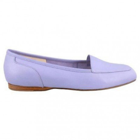 Enzo Angiolini Liberty Soft Periwinkle Leather Loafer Flat