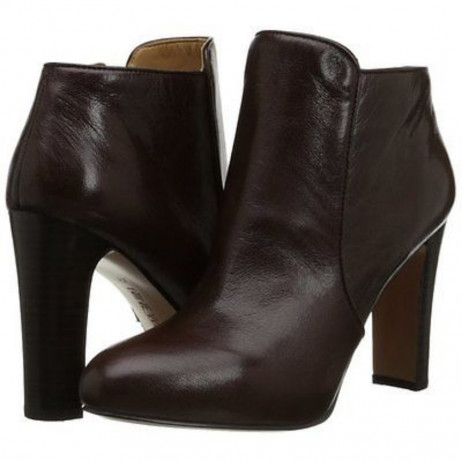 Nine West Women's Gidran Brown Leather Ankle Boot