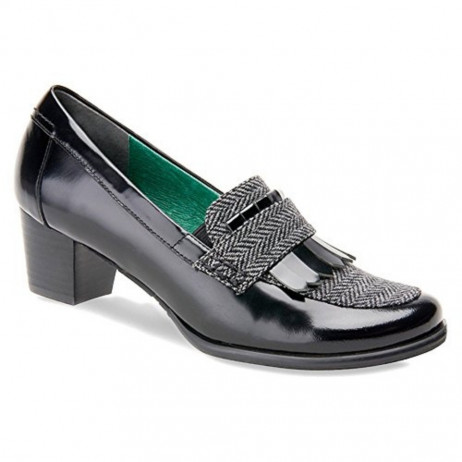Amy Black/Grey Ros Hommerson Pump