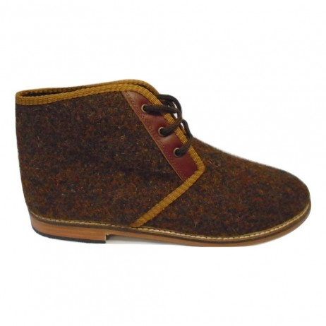 Rust tweed Resipsa Chukka Ankle Boot