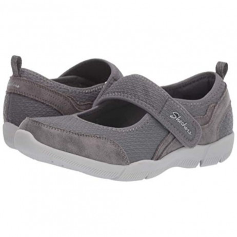 23169 Be Lux Charcoal Mary Jane Skechers Flat