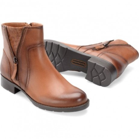 Val Tan Comfortiva Ankle Boots