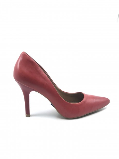 Mariana by Golc Women's Dottie Red Leather Pump