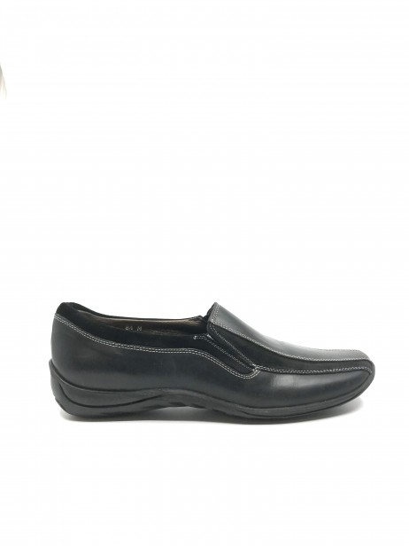 Adina Black Suede and Leather Sesto Meucci Slipon Flat