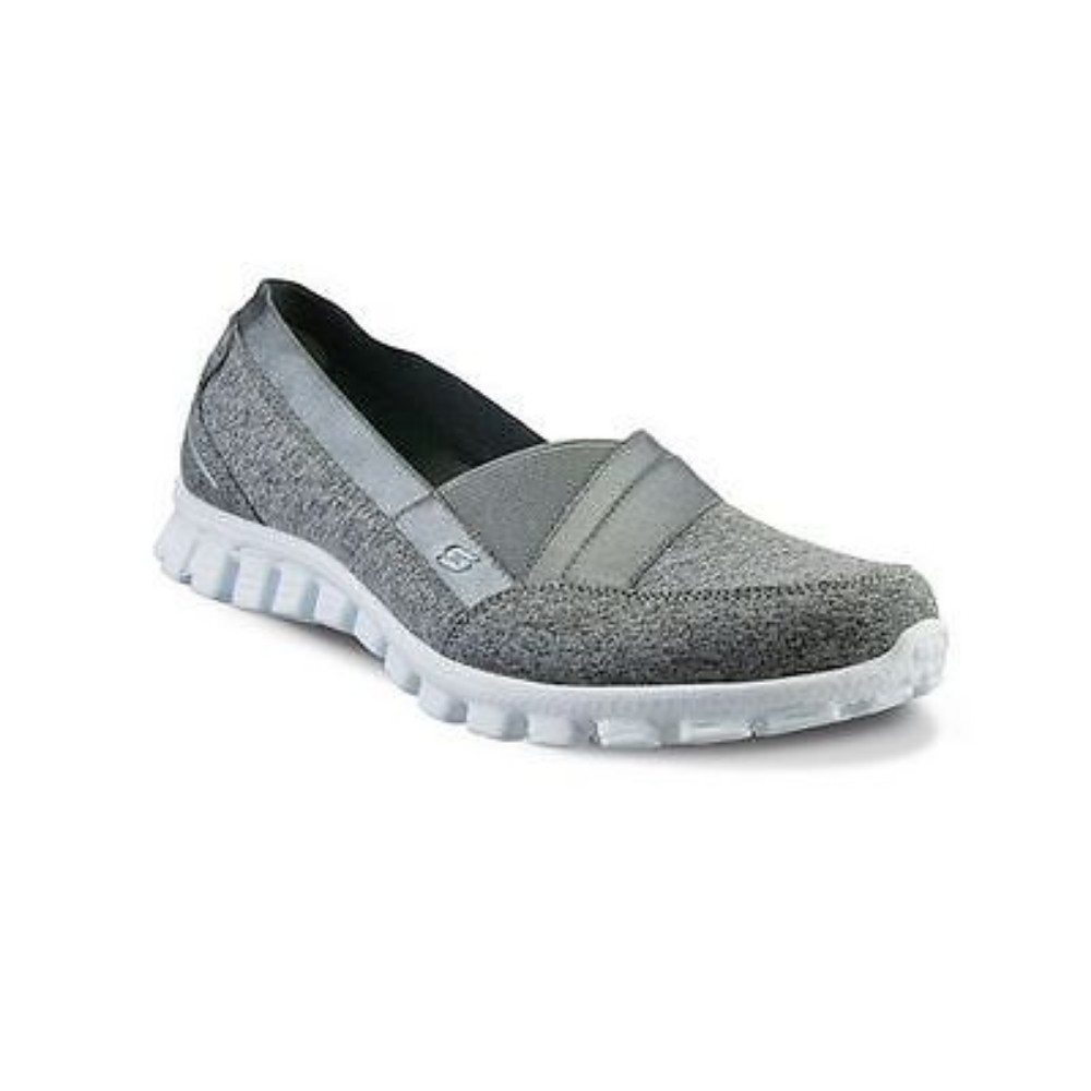 Skechers 22827 Gry Women'S Ez Flex 2 Fascination Sneakers