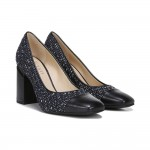 Roller 2 Black Navy Fabric and Leather Franco Sarto Pumps