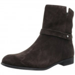 Franco Sarto Women's Motion Dark Slate Brown Suede Ankle Flat Boots