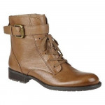 Franco Sarto Women's Priam Taupe Leather Low Heel Boot