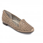 Me Too Women's Alla Bark Leather Perforated Loafer Flat