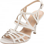 Franco Sarto Women's Lia Ankle-Strap Sandal White Leather