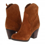 Franco Sarto Women's Hutch Desert Camel Suede Ankle Boot
