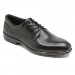 Rockport Men's Total Motion Black Leather Plain Toe