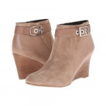 Franco Sarto Women's Lucita Mushroom Suede Leather Ankle Wedge Boots