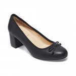 Lily Black Leather Me Too Pumps