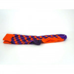 Purple Orange Square Print Womens