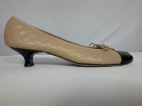 Titou Black Patent Nappa Beige Paul Mayer Pump