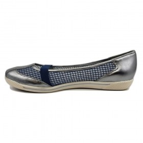 Coolgear Pewter and White Stuart Weitzman Sneaker Flats