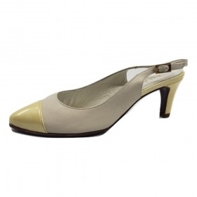 Tuna Milk Leather Amalfi Slingback Pumps