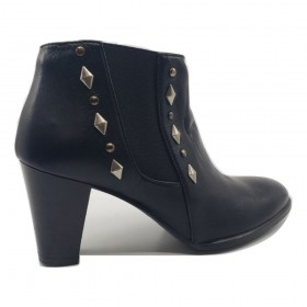 Emme Black Leather Amalfi Ankle Boots