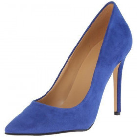 Nine West Women's Frolic Blue Suede Pump