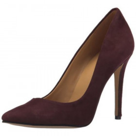 Nine West Women's Frolic Dark Red Suede Pump