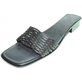 Malva Black Woven Leather Sesto Meucci Sandal