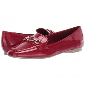 Frida Red Patent Bandolino Loafer Flats
