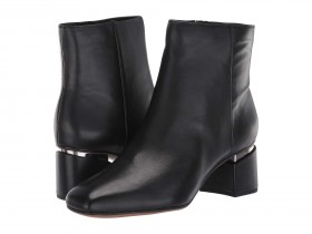 Marquee Black Leather Franco Sarto Ankle Boot