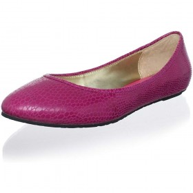 Elaine Turner Women's Paige Lipstick Leather Ballerina Flat