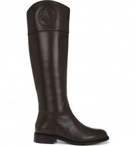 Hudson WC Brown Leather Franco Sarto Wide Calf Boots