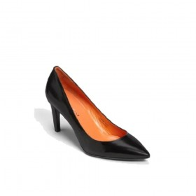 Via Spiga Womens Harrietta Black Leather Pumps