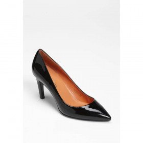 Via Spiga Womens Harrietta Black Patent Leather Pumps