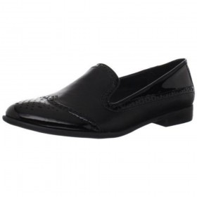 Franco Sarto Women's Tweed Black Loafer