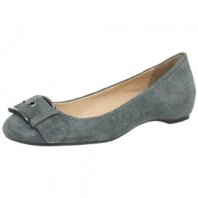 Franco Sarto Women's Jesse Grey Anthracite Suede Flat