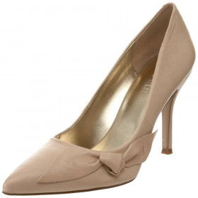 Nine West Women's Frontal Taupe Leather Pump