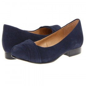 Naturalizer Women's Leana Navy Suede Flat
