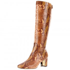 Gabor Tan Snake Pour La Victoire Womens Leather Medium Heel Boot