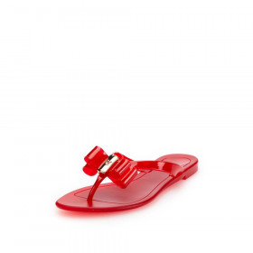 Baraka Red jelly VC Signature Jelly Flip-Flop