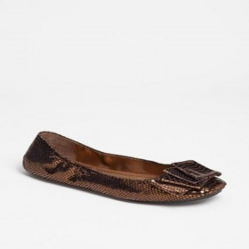 Me Too Women's Lilyana Copper Leather Flat