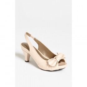 Me Too Women's Panther Shell Patent Slingback Pump