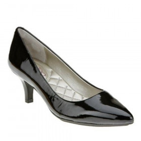 Me Too Women's Celine Black Patent Leather Pump