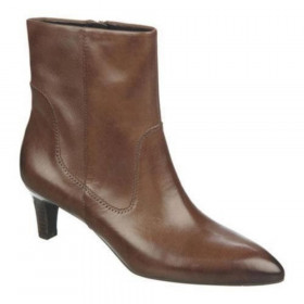 Franco Sarto Women's Regis Dark Brown Leather Ankle Boot