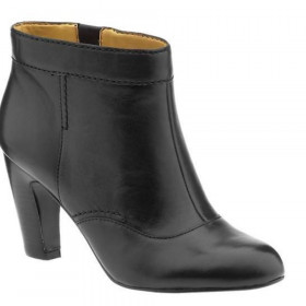 Nine West Women's Translator Black Leather Ankle Boot